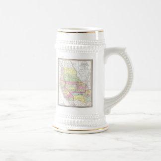 Vintage Map of The Western United States (1853) Beer Steins