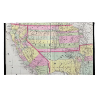 Vintage Map of The Western United States (1853) iPad Cases