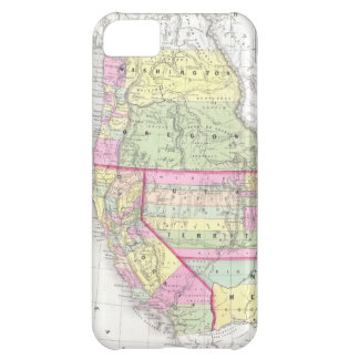 Vintage Map of The Western United States (1853) iPhone 5C Cover