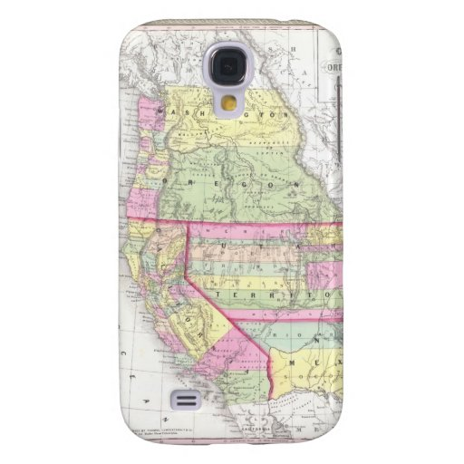 Vintage Map of The Western United States (1853) Galaxy S4 Case