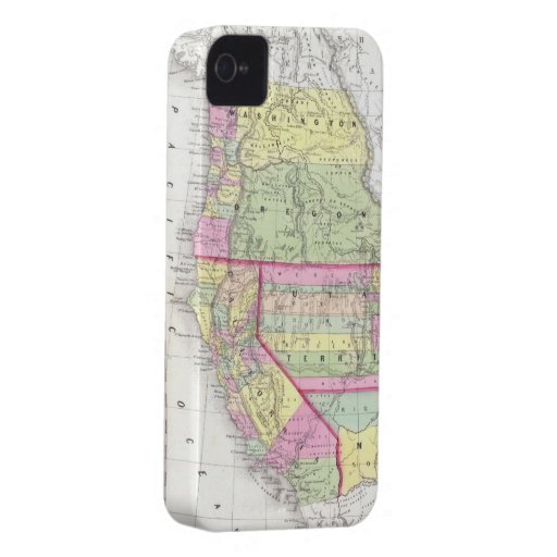 Vintage Map of The Western United States (1853) Case-Mate iPhone 4 Case