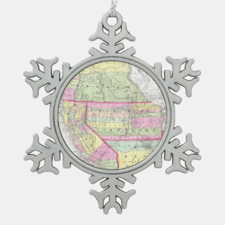 Vintage Map of The Western United States (1853) Ornament