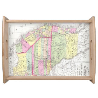 Vintage Map of The Western United States (1853) Food Trays