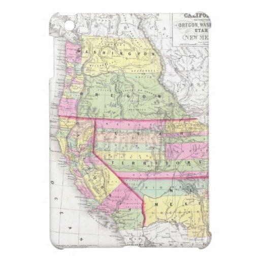 Vintage Map of The Western United States (1853) iPad Mini Case