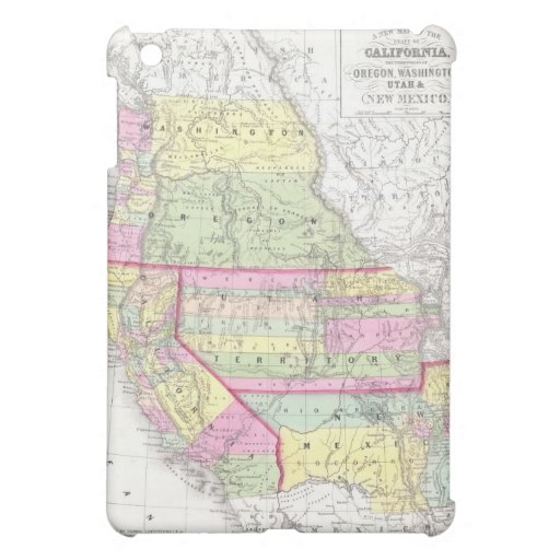 Vintage Map of The Western United States (1853) iPad Mini Cases