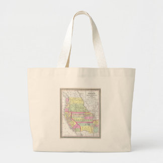Vintage Map of The Western United States (1853) Jumbo Tote Bag