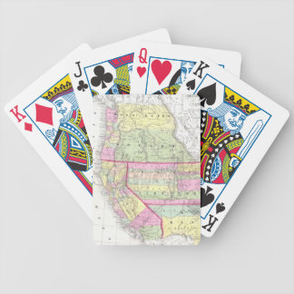 Vintage Map of The Western United States (1853) Card Decks