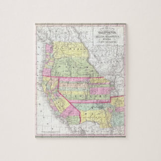 Vintage Map of The Western United States (1853) Puzzles