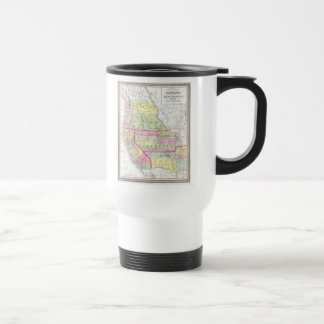 Vintage Map of The Western United States (1853) Stainless Steel Travel Mug