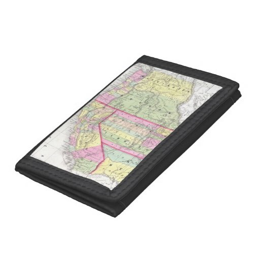 Vintage Map of The Western United States (1853) Trifold Wallets