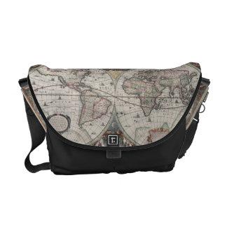 Vintage Map of The World (1630) Commuter Bag