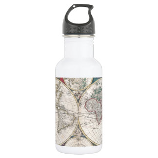 Vintage Map of The World (1685) 532 Ml Water Bottle