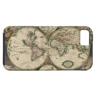 Vintage Map of The World (1689) Tough iPhone 5 Case