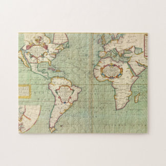 Vintage Map of The World (1702) Jigsaw Puzzle
