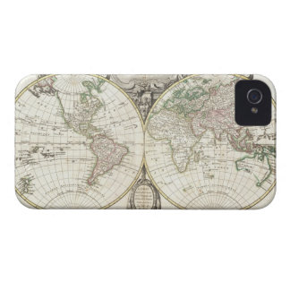 Vintage Map of The World (1775) iPhone 4 Case-Mate Cases