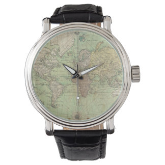Vintage Map of The World (1778) Watch