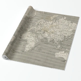 Vintage Map of the World (1820) 2 Wrapping Paper