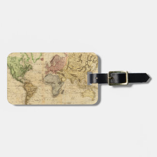 Vintage Map of The World (1831) Luggage Tag