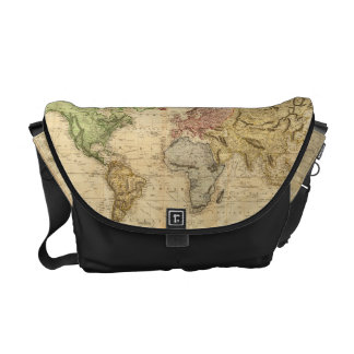 Vintage Map of The World (1831) Messenger Bags