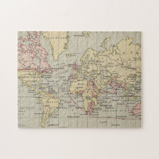 Vintage Map of The World (1914) Jigsaw Puzzle