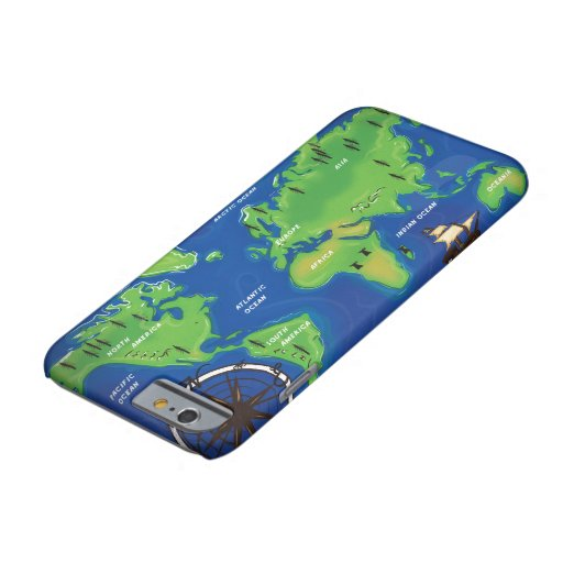 Vintage Map Of the world. Barely There iPhone 6 Case