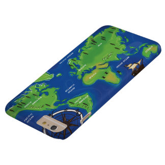 Vintage Map Of the world. Barely There iPhone 6 Plus Case