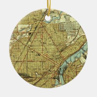 Vintage Map of Toledo Ohio (1938) Ceramic Ornament