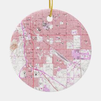 Vintage Map of Tucson Arizona (1957) Ceramic Ornament