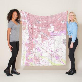 Vintage Map of Tucson Arizona (1957) Fleece Blanket