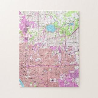 Vintage Map of Tulsa Oklahoma (1954) Jigsaw Puzzle