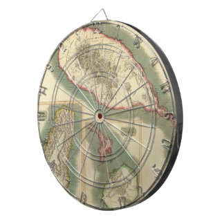 Vintage Map of Various Islands of The Caribbean Dartboards