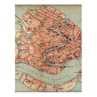 Vintage Map of Venice Italy 1920 Post Cards