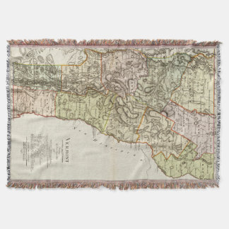 Vintage Map of Vermont (1797) Throw Blanket