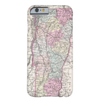 Vintage Map of Vermont (1855) Barely There iPhone 6 Case