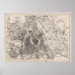 Vintage Map of Vienna Austria (1906) Poster