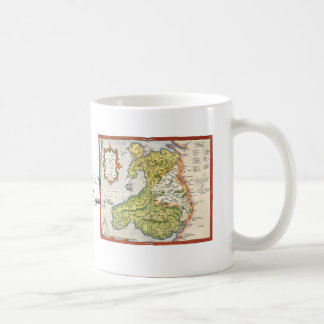 Vintage Map of Wales and Anglesey 1579 Coffee Mug