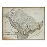 Vintage Map of Washington D.C. (1794) Poster
