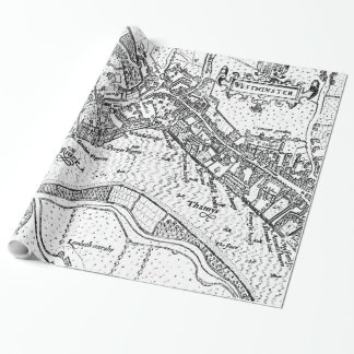 Vintage Map of Westminster (1593) Wrapping Paper