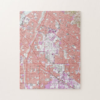Vintage Map of Whittier California (1965) Jigsaw Puzzle