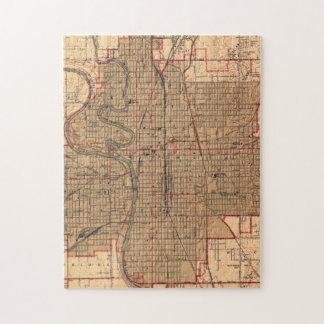 Vintage Map of Wichita Kansas (1943) Jigsaw Puzzle