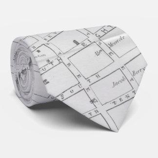 Vintage Map of Williamsburg Brooklyn (1827) Tie