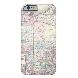 Vintage Map of Wisconsin (1855) Barely There iPhone 6 Case