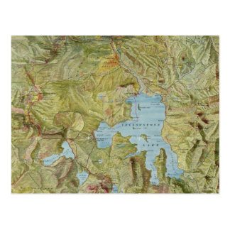 Vintage Map of Yellowstone National Park (1898) Postcard
