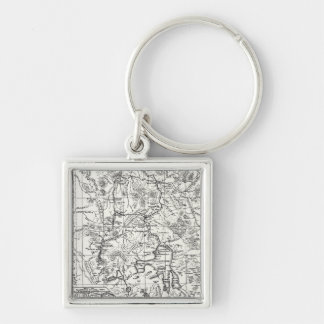 Vintage Map of Yellowstone National Park Key Ring