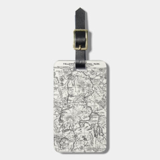Vintage Map of Yellowstone National Park Luggage Tag