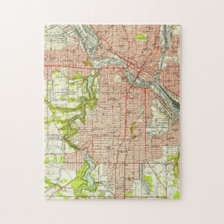 Vintage Map of Youngstown Ohio (1951) Jigsaw Puzzle