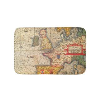 Vintage Map Print Bath Mats