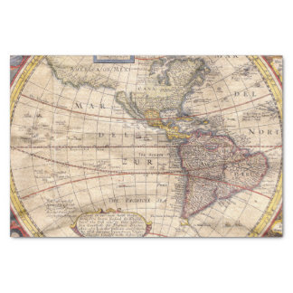 Vintage Map Print Tissue Paper