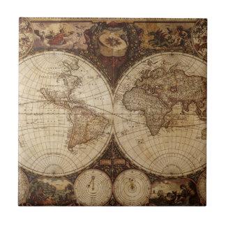 Vintage Map Tile