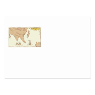 Vintage Map Treasure Island Tall Ship Whale Business Card